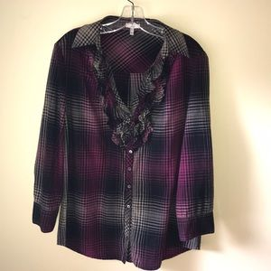 Joie Plaid Flannel Button Up